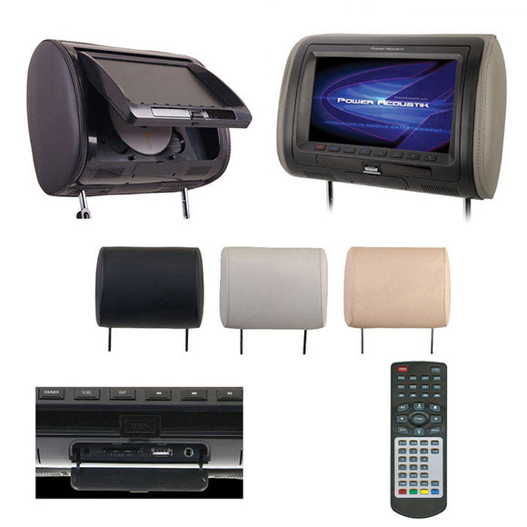 POWER ACOUSTIK HDVD-71CC 7-Inch Universal Replacement Headrest with DVD player