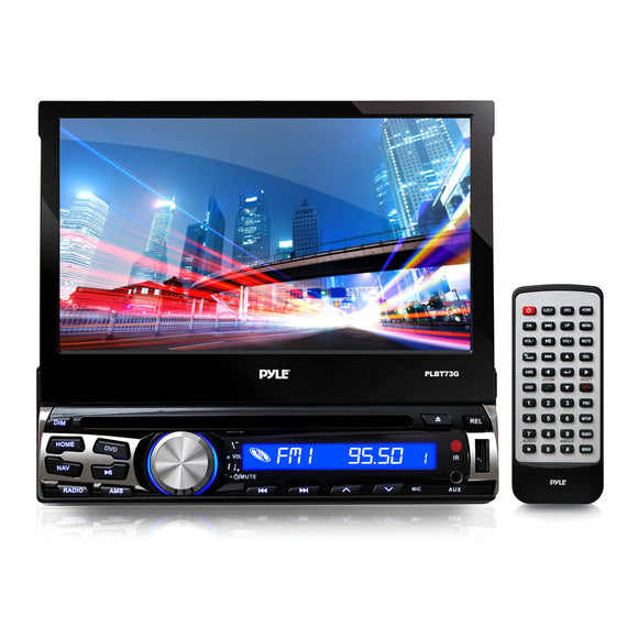 Pyle PLBT73G Bluetooth 7-Inch GPS Nav Receiver, Built-In Mic, Touch Screen, CD/DVD
