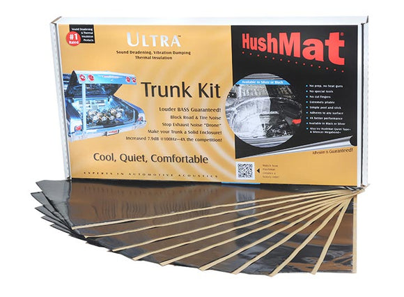 Hushmat 10300 Ultra Insulating/Damping Material Trunk Kit-Black 10 Sheets 12 x 23 in