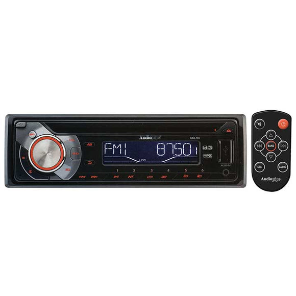 Audiopipe RAC103 AM/FM/CD/USB with Remote & sub out