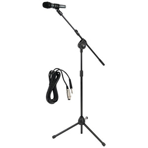 Pyle PMKSM20 Microphone & Tripod Stand w/ Extending Boom & Cable Package