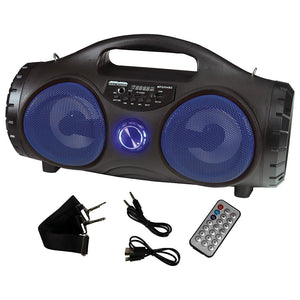 "Maxpower MPD554BZBL 5"" Portable Speaker Blue Battery belt included"