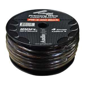 Audiopipe PW4100-B 100 Ft. 4 Gauge Primary Power Cable (Black)