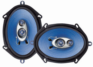 Pyle PL573BL 5-Inch x 7-Inch/6-Inch x 8-Inch 300 Watt Three-Way Speakers