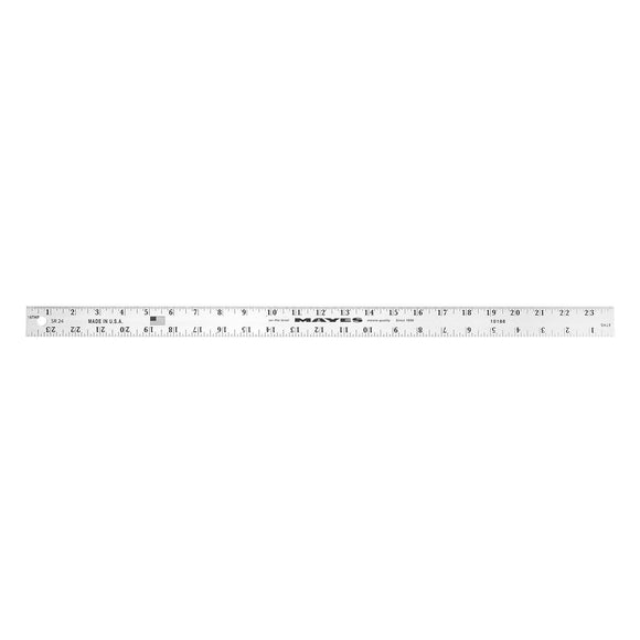 Mayes 10188 24 Inch x 1 Inch Aluminum Ruler