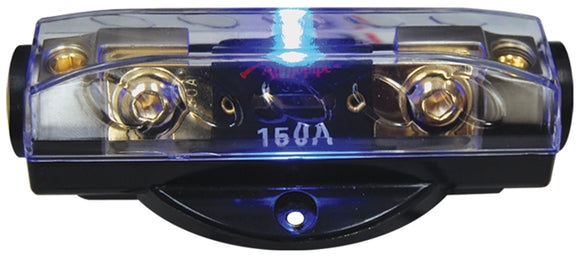 Audiopipe CQ1221P ANL Fuse Holder with Blue LED Status Indicator – Platinum