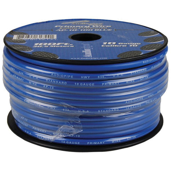 Audiopipe AP10100BL 10 Gauge 100Ft Primary Wire Blue