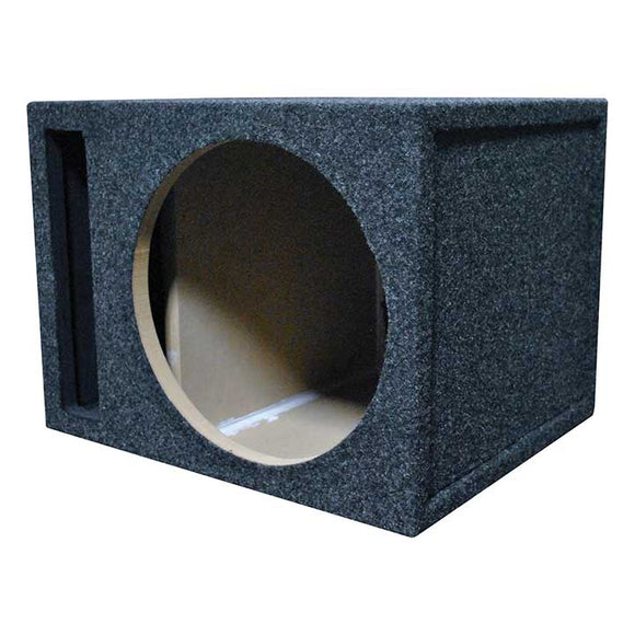 "Audiopipe APSB12BDF Single 12/"" Shallow Downfire Sealed Enclosure With Sub"