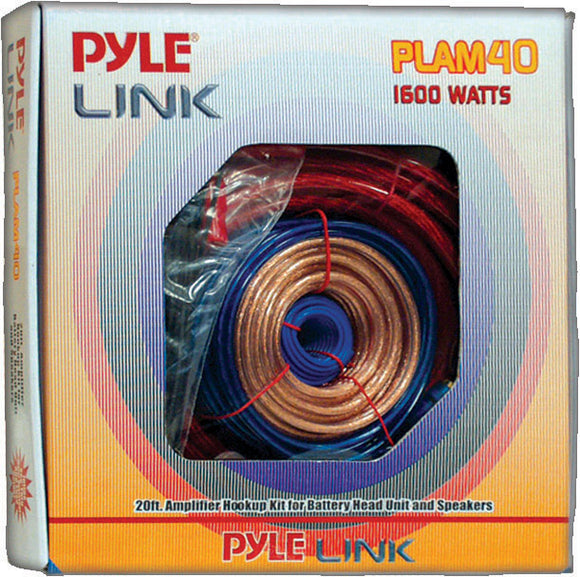 Pyle PLAM40 4 GA Amplifier wiring kit