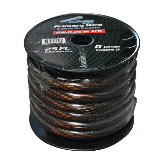 Audiopipe 25' 0 Gauge Black Power Wire