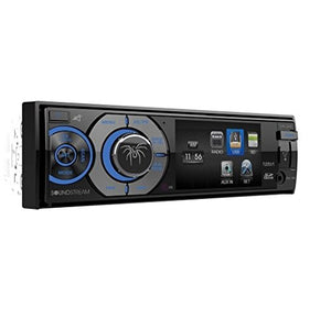 "Soundstream VR-345B Single DIN A/V Source Unit with Detachable 3.4"" LCD Screen/Bluetooth"