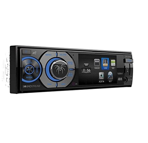 Soundstream VR-345B Single DIN A/V Source Unit with Detachable 3.4