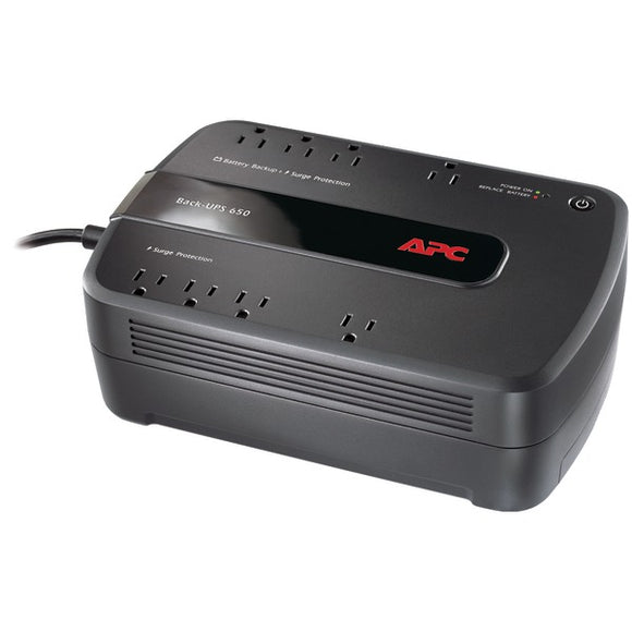 APC BE650G1 Back Up UPS 650VA 8 outlet Uninterruptible Power Supply