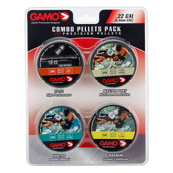 Gamo Performance Airgun Pellets Combo Pack 950 Assorted .22 Caliber 63209275554
