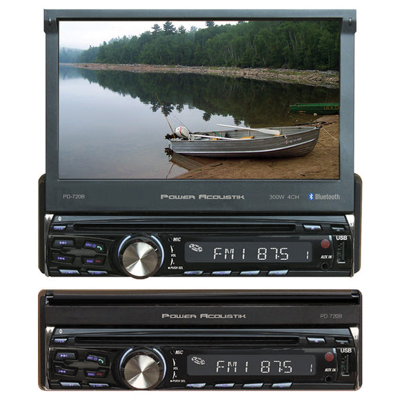 Power Acoustik PD720B Single DIN 7