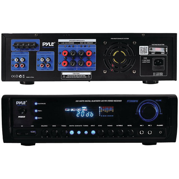 Pyle PT390BTU 300 Watt Digital Home Theater Bluetooth Stereo Receiver