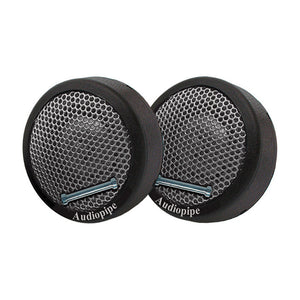 "AUDIOPIPE NTC-1525 300W 1"" Mini Car Audio Loud Dome Tweeters Stereo Pair"