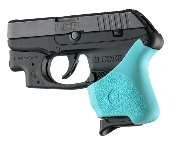 Hogue 18114 Hall Hybrid Ruger Lcp Crimson Trace Button Grip Sleeve Aqua