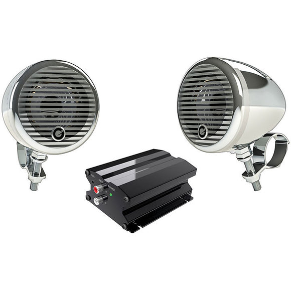 Planet Audio PMC2C Motorcycle/ATV System w/ Bluetooth pair of 3