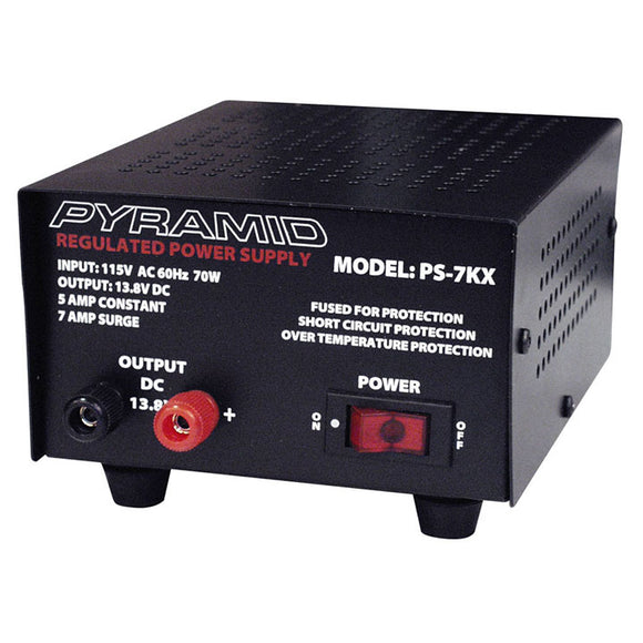 Pyramid PS7KX 5 Amp 13.8V DC Power Supply