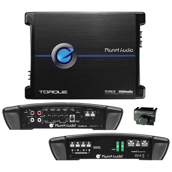 Planet Audio TR30001D 3000 Watts Max Class D Monoblock Amplifier 1-OHM Stable