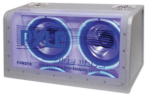 "Pyle PLBWS212 1200 Watt Dual 12"" Car Bandpass with Neon"