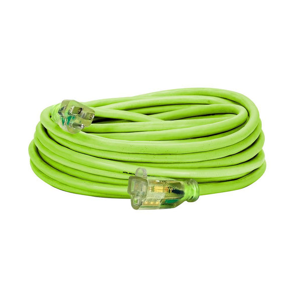 Flexzilla FZ512730 Pro Extension Cord 14/3 Awg Sjtw 50Ft Outdoor Lighted Plug