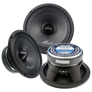 "Audiopipe APMB8BTC 8"" 500 Watt Mid Bass Car Speaker"