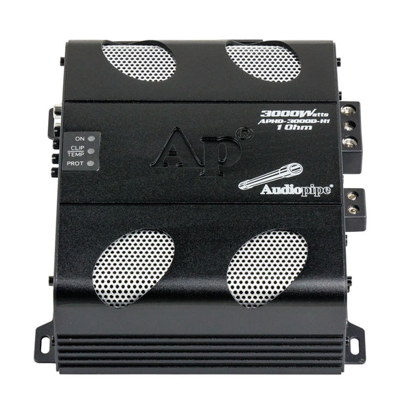 Audiopipe APHD3000DH1 Class D Full Range High Power Amplifier 1 Ohm