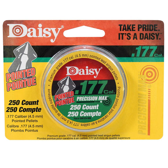 Daisy 987777406 250 ct. Pointed Field Pellets .177 PDQ Silver 4.5 mm *987777446*