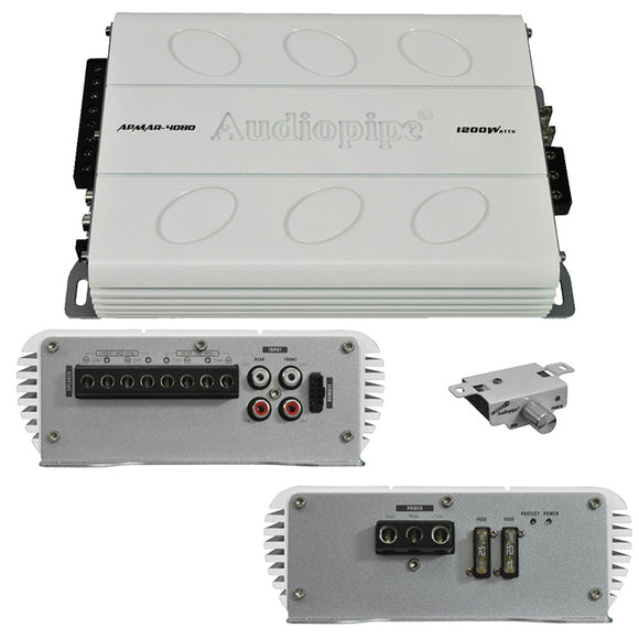 Audiopipe APMAR4080 Mini 4CH 1200W Marine Amplifier