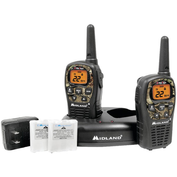 Midland LXT535VP3 24-Mile Camo GMRS Radio Pair w/ Charger & Batteries