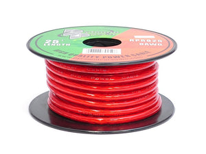 Pyramid RPR825 8 Gauge 25 FT. Red Gold Wire