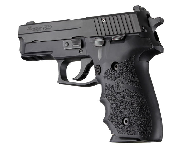 Hogue 28000 Sig Sauer P228 P229 Rubberfinger Grooves Black