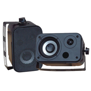 Pyle PDWR30B 3.5'' 300 Watt Black Waterproof Speaker pair