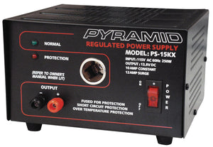 Pyramid PS15KX 12 AMP Power Supply with Cigarette Plug