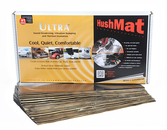 "Hushmat 10500 Bulk Kit Black (30) 12ï¾"" x 23ï¾"" sheets 58.1 Square Feet"