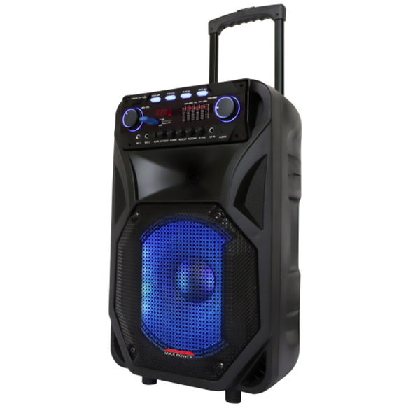 Max Power MPD12EQ 12 in. Single Woofer with Built in Rechargeable Battery Front Equalizer