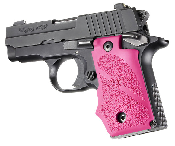 Hogue 38007 Sig Sauer P238 Rubber Grip With Finger Grooves Pink