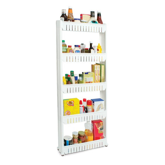 IdeaWorks JB7632 5 Tier Slim Slide-Out Pantry