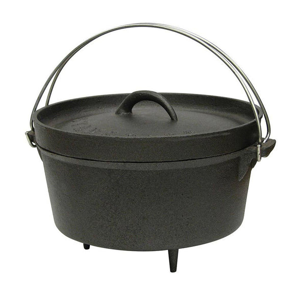 Stansport 16020 Cast Iron 4 Quart Dutch Oven with Legs
