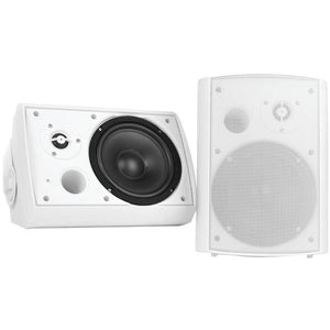 "Pyle PDWR51BTWT 5.25"" Indoor/Outdoor Wall-Mount Bluetooth Speaker System (White)"