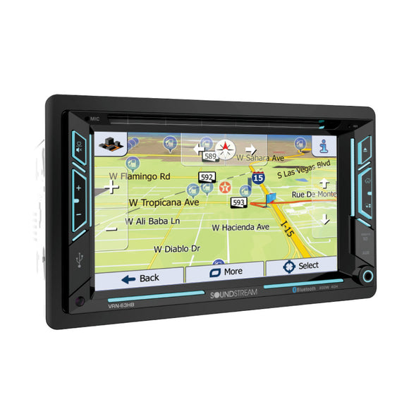 SoundStream VRN63HB 2-DIN AptiX Source Unit w/ iGO GPS Bluetooth 6.2