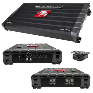 Power Acoustik CB18000D Caliber Class D 8000W Amplifier