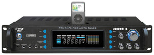 Pyle Pro P2002ABTI 2000W Receiver with Bluetooth & wireless remote