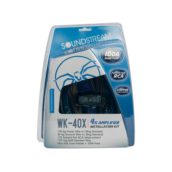 SoundStream WK40X 4G Installation kit w/100A MANL Fuse