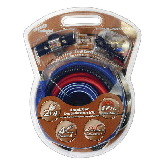 Audiopipe PK2100CPR Copper Installation Kit 4 Gauge