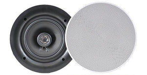 "Pyle PDIC66 6.5"" In Ceiling 200 W 2 Way Flush Mount Speakers (pair)"