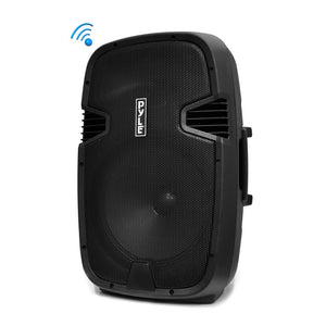 "Pyle PPHP152BMU 15"" 1000 Watt Portable Bluetooth PA Speaker System w/ Guitar & Mic Inputs"