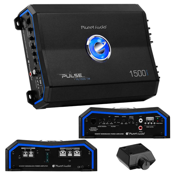 Planet Audio PL15001M 1500 Watt Class AB Monoblock Amplifier